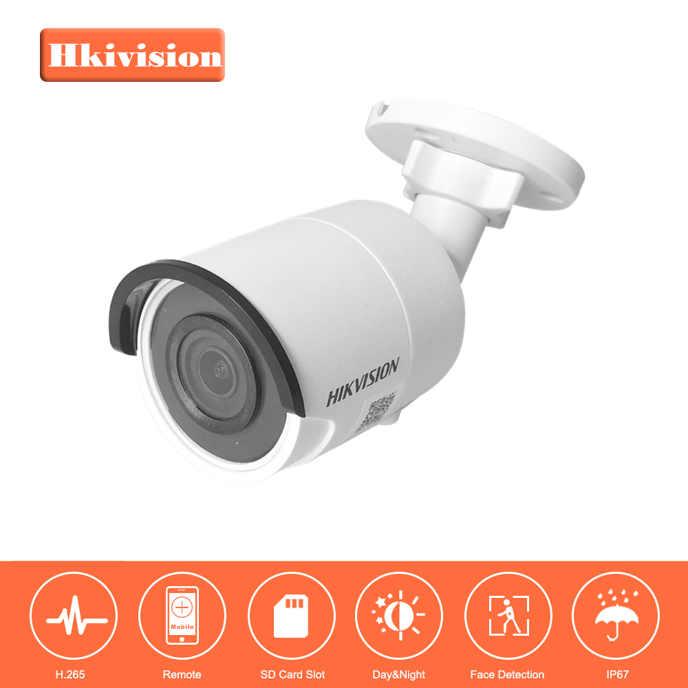 Hikvision H.265 CCTV Camera System Onvif DS-2CD2023G0-I 2MP CMOS Bullet Security IP Camera PoE with P2P Cloud 30m IR IP67 original hikvision 1080p waterproof bullet ip camera ds 2cd1021 i camera 2 megapixel cmos cctv ip security camera poe outdoor
