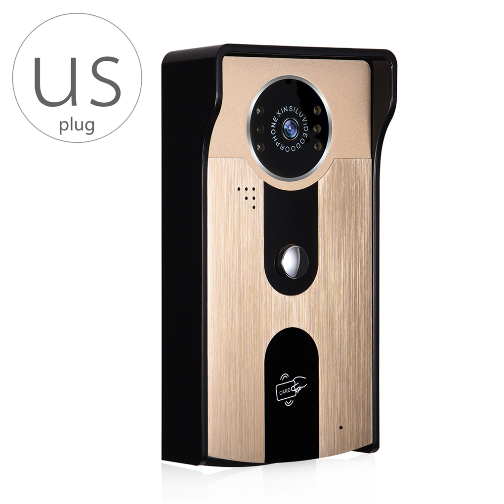 New 2017 A6 Wifi Video Doorbell Wireless HD Color Video Intercom Smart Doorbell with Night Vision Camera ID Card System zilnk video intercom hd 720p wifi doorbell camera smart home security night vision wireless doorphone with indoor chime silver