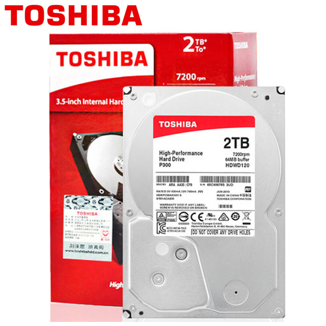 "TOSHIBA 2TB Internal HDD 2000GB Desktop PC Computer NVR CCTV Hard Drive Disk 3.5"" SATA3.0 7200RPM 64M Cache HD"