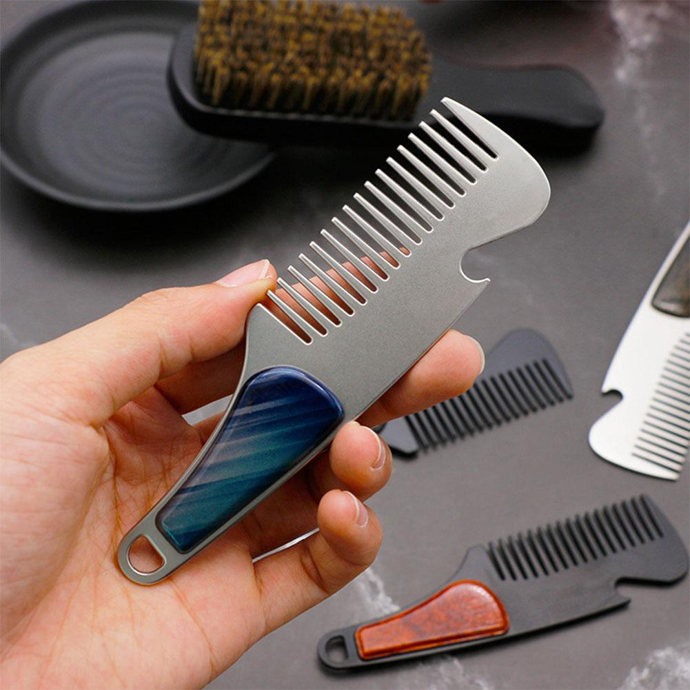 BellyLady Multifunctional Stainless Steel Portable Styling Comb Beard Comb Bottle Opener
