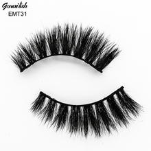 Genailish Horse Hair False Eyelashes 100% Handmade with Superior Quality Comfortable Eye Extension for Makeup-EMT031