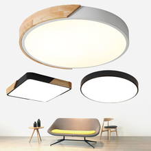 LED Ceiling Light Modern Lamp Panel Living Room Round Lighting Fixture Bedroom Kitchen Hall Surface Mount Flush Remote Control