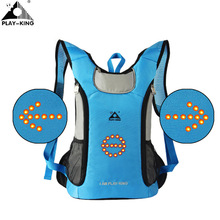 PLAYKING Cycling Safety LED Backpack Bag Reflective Bicycle LED Turn Signal Reflective  Light Backpack for Night 9f04e38c14217