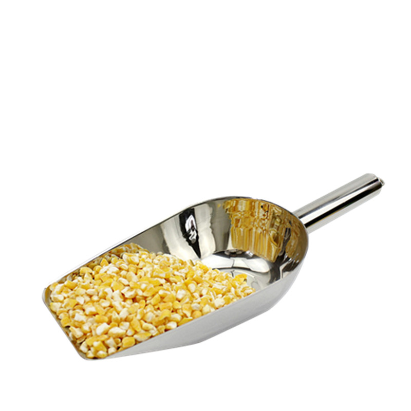 free shipping  stainless steel ice scoop multifunction nuts grains and cereals flat shovel kitchen home handmade tool stainless steel cuticle removal shovel tool silver