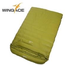 цены Fill 2000G duck down ultralight camping sleeping bag outdoor envelope Travel sleep adult Winter sleeping bag for 2 people