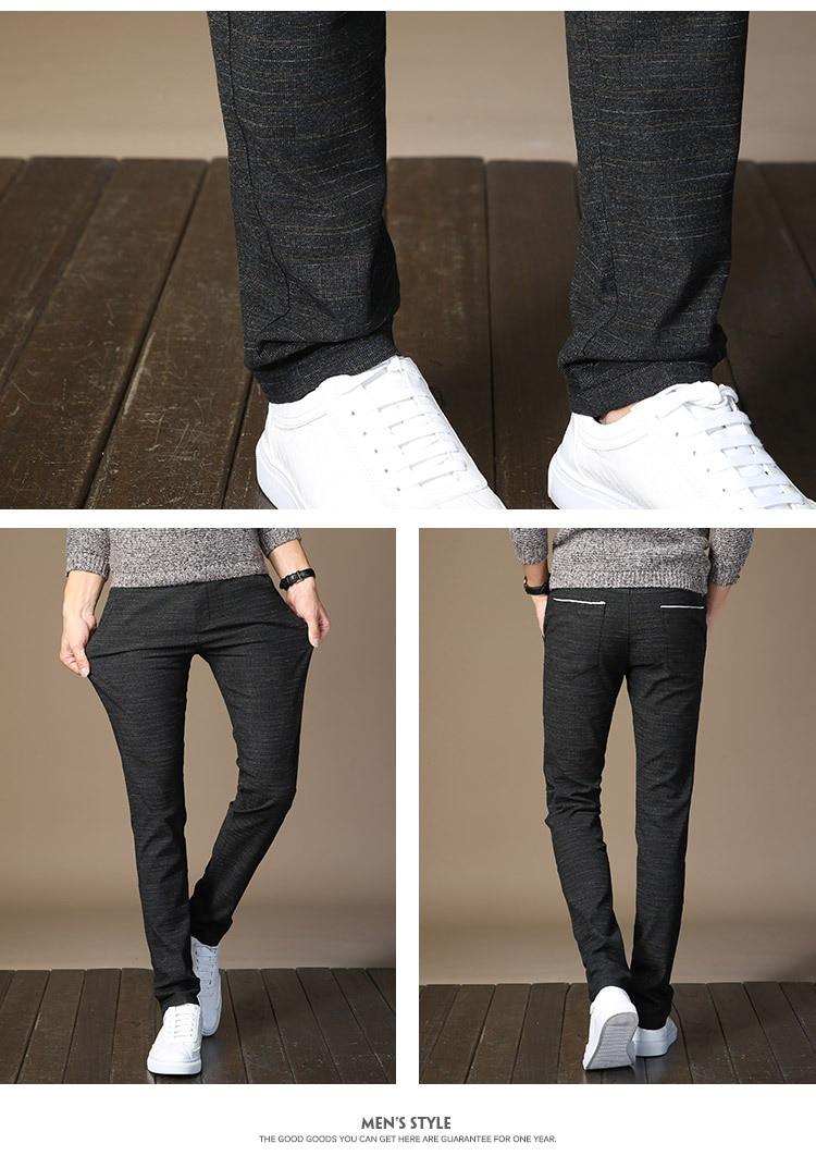 HTB13B7LJ7KWBuNjy1zjq6AOypXa3 MRMT 2019 Brand Mens Spring And Summer Casual Pants Men Striped Micro Elastic Straight Trousers