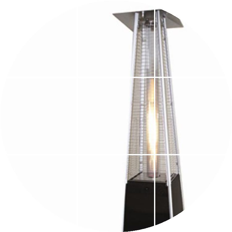 Column of flame gas heater outdoor patio heaters liquefied natural