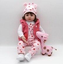 48cm Bebe Reborn 19inch boneca reborn silicone Doll baby dolls menina kids birthday Christmas gift