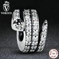 Envío gratis serpiente regalo sparkling clear cz & negro crystal encantos fit pandora original pulsera collar de la joyería diy s115