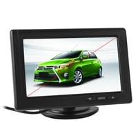 Brand New 5 cái 480x272 5 Inch Color TFT LCD Màn Hình Góc Nhìn rộng Xe Gương Chiếu Hậu Monitor E306 18 mét Color CCD Xe Máy Ảnh
