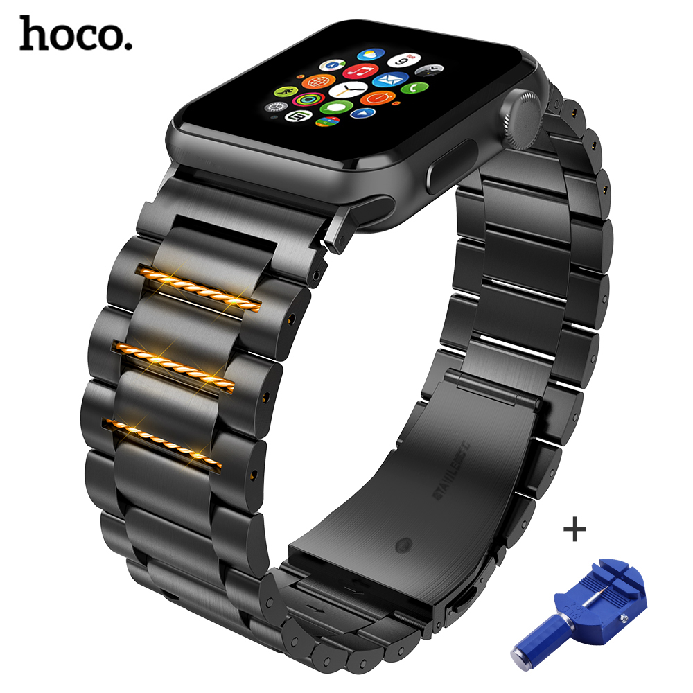 HOCO Fashion Stainless Steel Watch Band Strap For Apple Watch 42 Mm Link Bracelet Replacement Watchband For Iwatch Serise 1 2 3