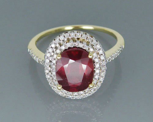 Vintage Jewelry Ring Solid 14Kt Yellow Gold Gold 4.40ct Natural Heated Ruby Wedding Ring цена
