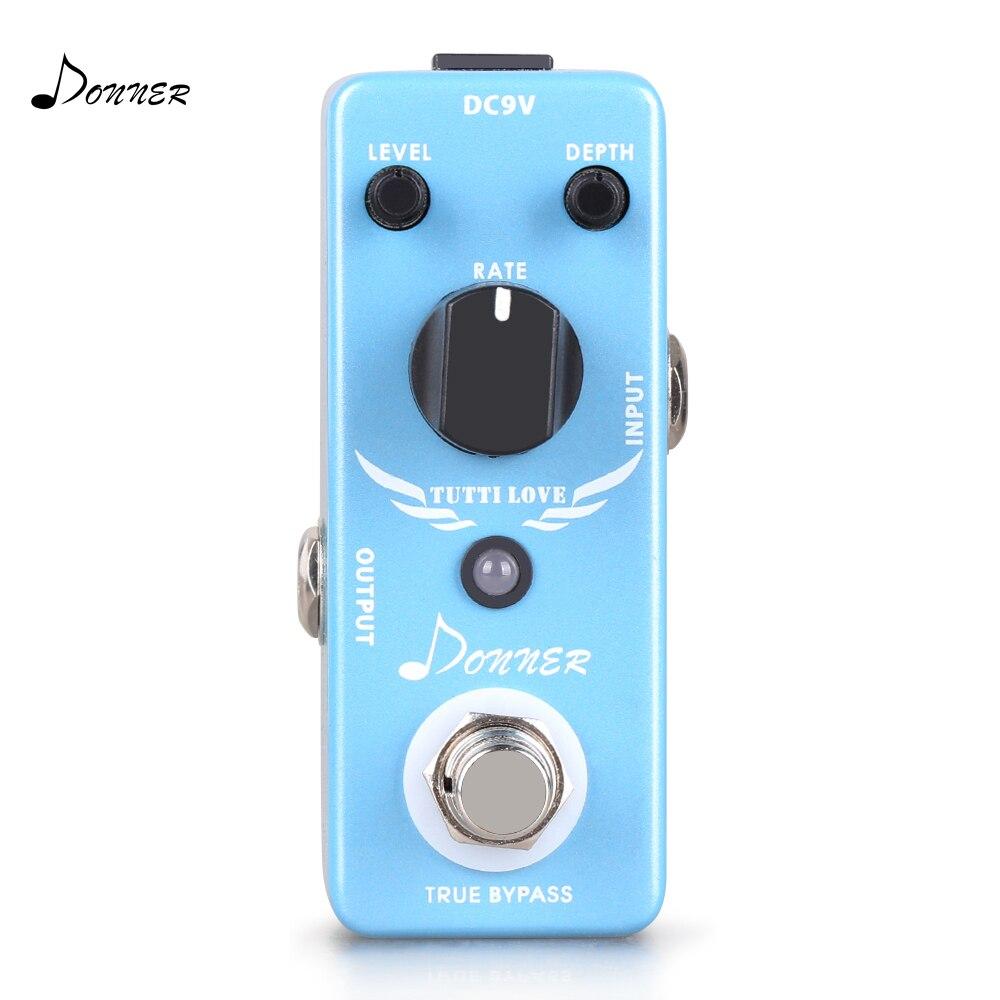Donner Tutti Love Chorus Guitar Effect Pedal japan one control bjf little copper chorus guitar effect pedal