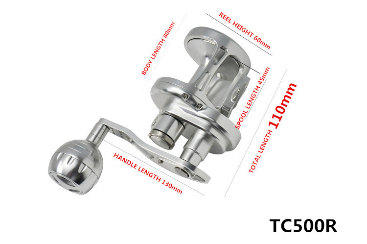 TC100-500 CNC carretel jigging barco carretel 25-35
