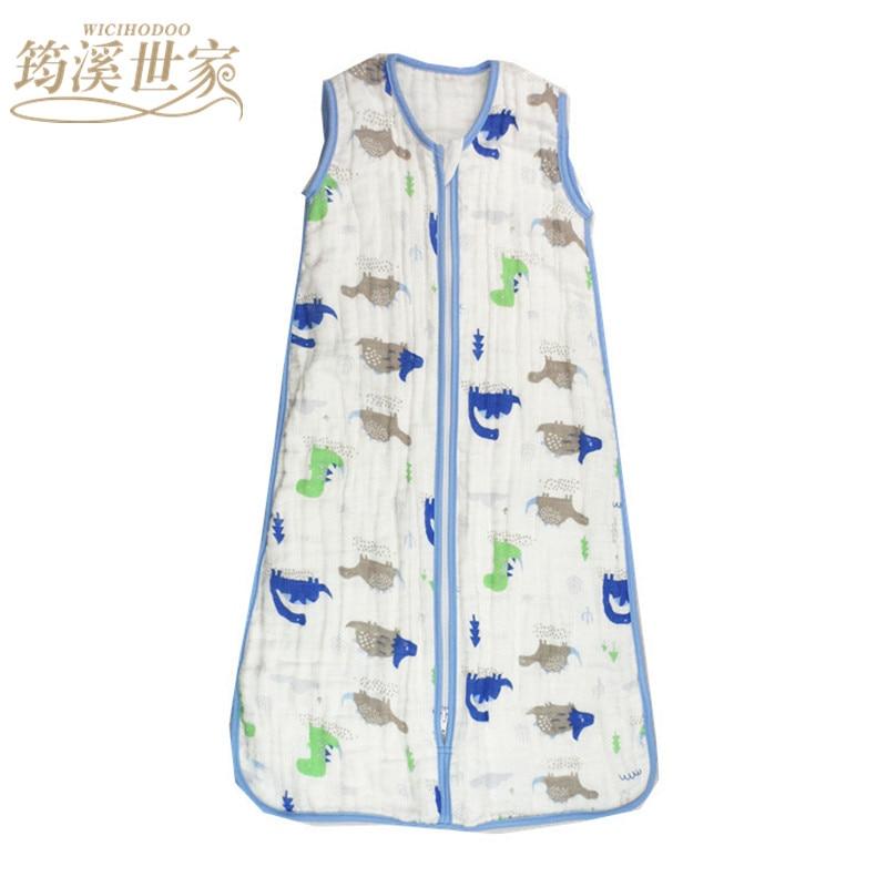 Baby-Sleeping-Bag-SleepSack-Muslin-Blanket-Thin-Soft-Vest-Type-Cotton-Gauze-Newborn-Baby-Tracksuit-Sleepwear-83CM90CM-2