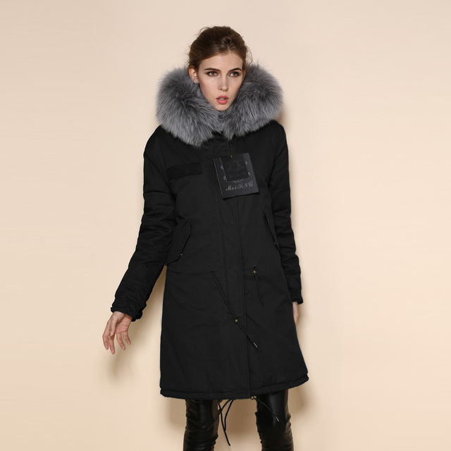 Military faux fur lined parka