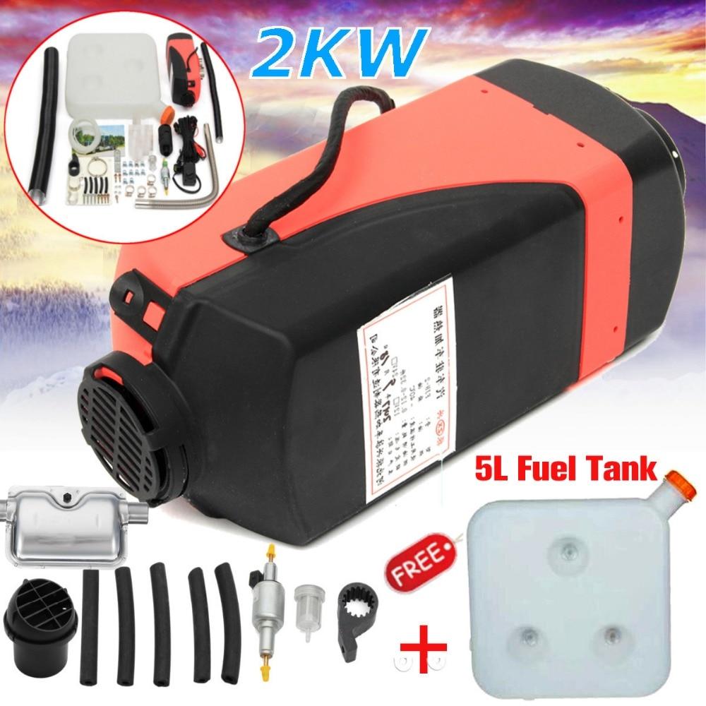 все цены на 12V 2000W Car Heater Air diesel- Heater 12V for trucks, motor-homes, boats, bus Knob Switch Single hole With Silencer онлайн