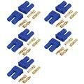 5 Sets Hombre Mujer EC2 2.0mm Conector de Bala de Oro Conector de La Batería Lipo RC