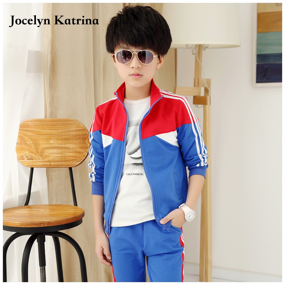 brand kids clothes New 2017 Fashion Leisure Kids Clothes Sets Cotton Baby Boy Sports Suits Fall&Spring Baby Clothes  new brand 2pcs ofcs baby boy sets cotton spring