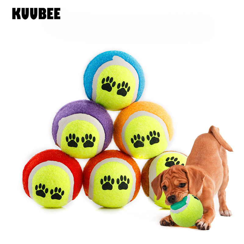 Tennis Ball Toy No Elasticity 63mm kids Pet Chew Toy Run Fetch Throw Play ball
