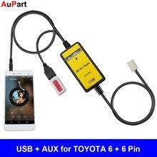 Auto Radio MP3 USB AUX Adattatore 3.5 millimetri di Interfaccia CD Changer per TOYOTA Corolla Camry Avensis RAV4 Auris Venza Yaris vitz per Lexus
