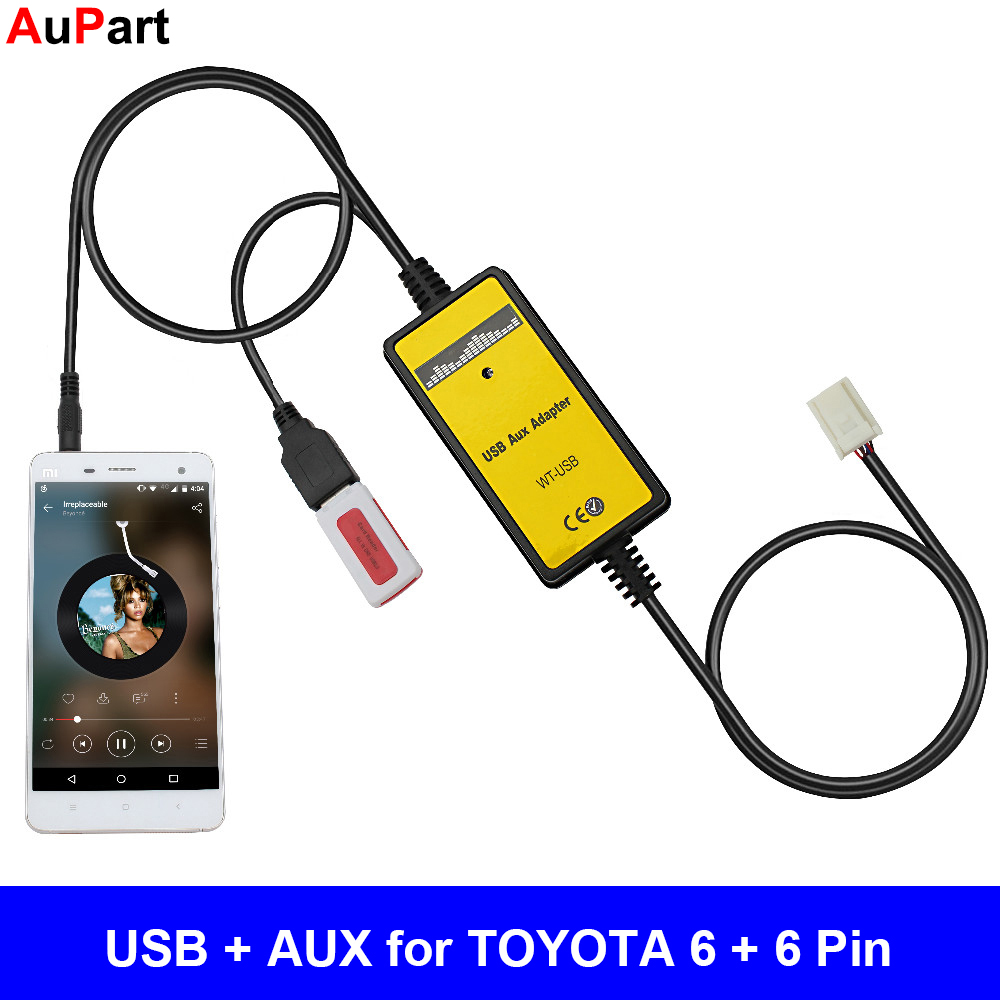 AUX Auxiliary Adapter Replaces 8619002020 86190-02020 Stereo Radio Outlet Jack