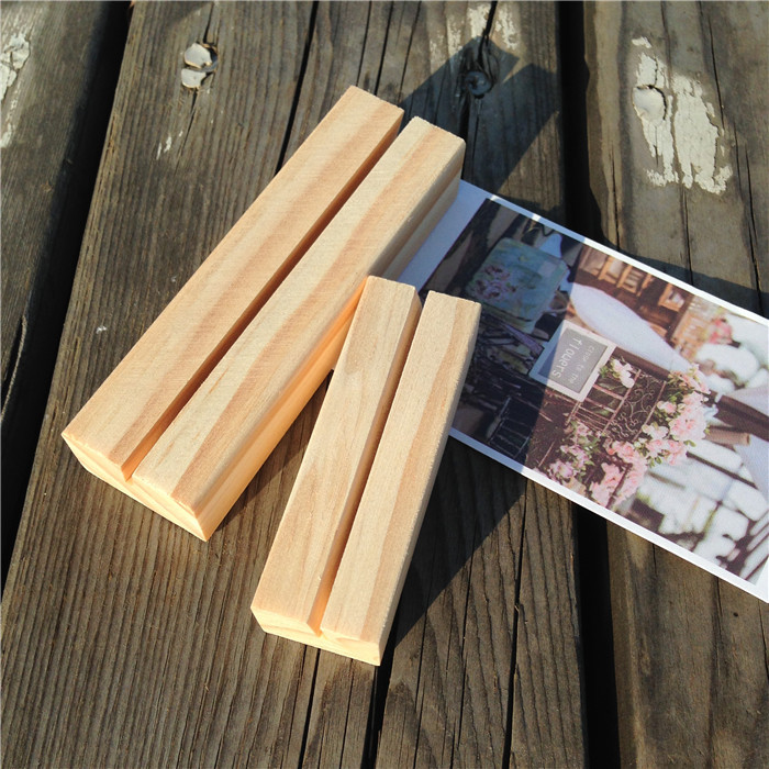 High Quality Wooden Wedding Table Number Cards Holder