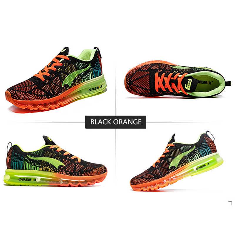 Onemix men's กีฬารองเท้ารองเท้าผ้าใบ breathable ตาข่ายรองเท้ากีฬากลางแจ้งชายรองเท้าขนาด EU 39-47
