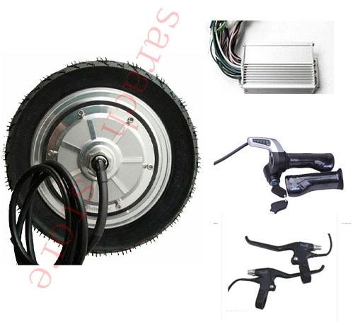 9 «350 Вт 48 В колеса-мотор, электрический мотороллер комплект, электрический скейтборд комплект двигателя