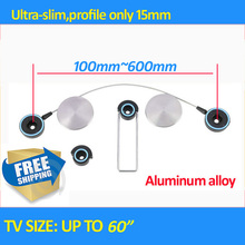 "round Aluminum free shiping ultra Slim LED Bracket 30"" 55""60"" LED Tv Mount Wall Bracket Tv Holder LCD holder"
