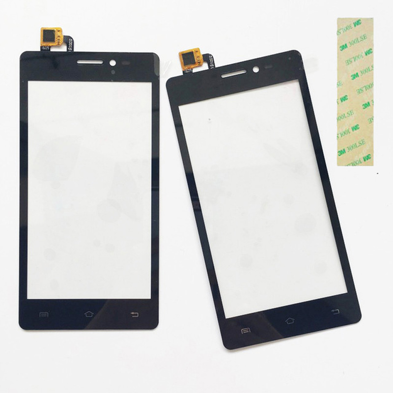 Black Color Front Glass For Prestigio Wize D3 PSP3505 PSP 3505 DUO Touch Screen Digitizer Touch Panel With Tape