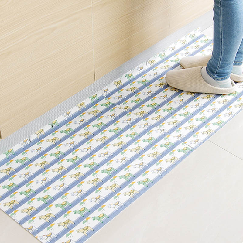 Pvc Waterproof Kitchen Rugs Entrance Door Pads Floor Mat Non Slip