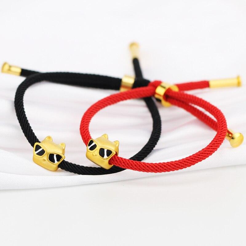 Горячая Распродажа 999 24 K желтый золотой браслет 3D 999 Золото классный браслет с фигуркой собаки