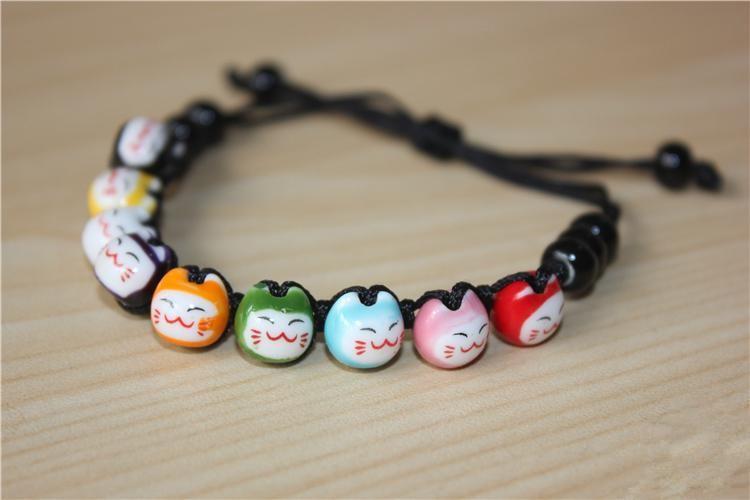 Mini Colorful Cat Ceramic Bracelets