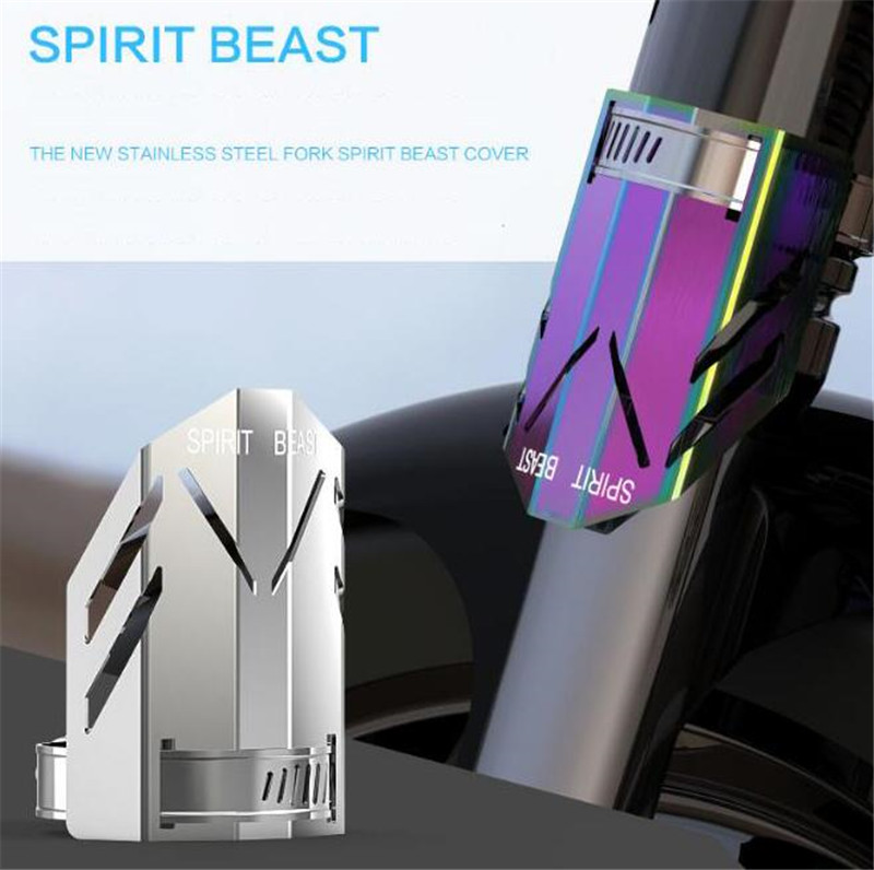 SPIRIT BEAST Motorcycle Accessories Stainless Steel Cover Decorations Shock Absorber Cover Car Styling Motor Protective Cover велотренажер spirit fitness xbr25 2017