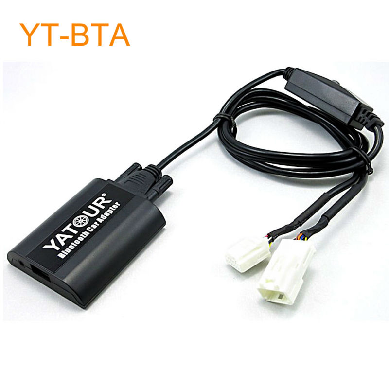 Yatour BTA Car Bluetooth Adapter Kit Work with Factory CD Changer for OEM Head Unit Radio for Toyota for Lexus for Scion Cars yatour car adapter aux mp3 sd usb music cd changer 6 6pin connector for toyota corolla fj crusier fortuner hiace radios