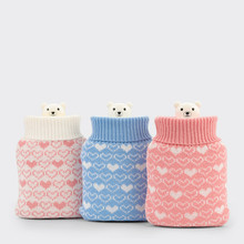 Household Items Portable Printed Cloth Cute Silicone Hot Water Bottle Hot Pack Hand Warmers Warm Hands and Feet Sale Hot