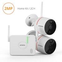 Atfmi 2ch Беспроводной Ip Камера Pir обнаружения движения, видеонаблюдения комплект 1080 p 2mp Hd P2p безопасности Системы двухстороннее аудио видео рег...