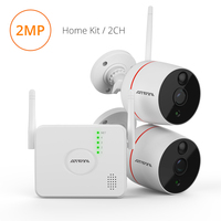 Atfmi 2ch Wireless Ip Camera Pir Motion Detection CCTV Kit 1080p 2mp Hd P2p Security System Two way Audio Video Recorder App