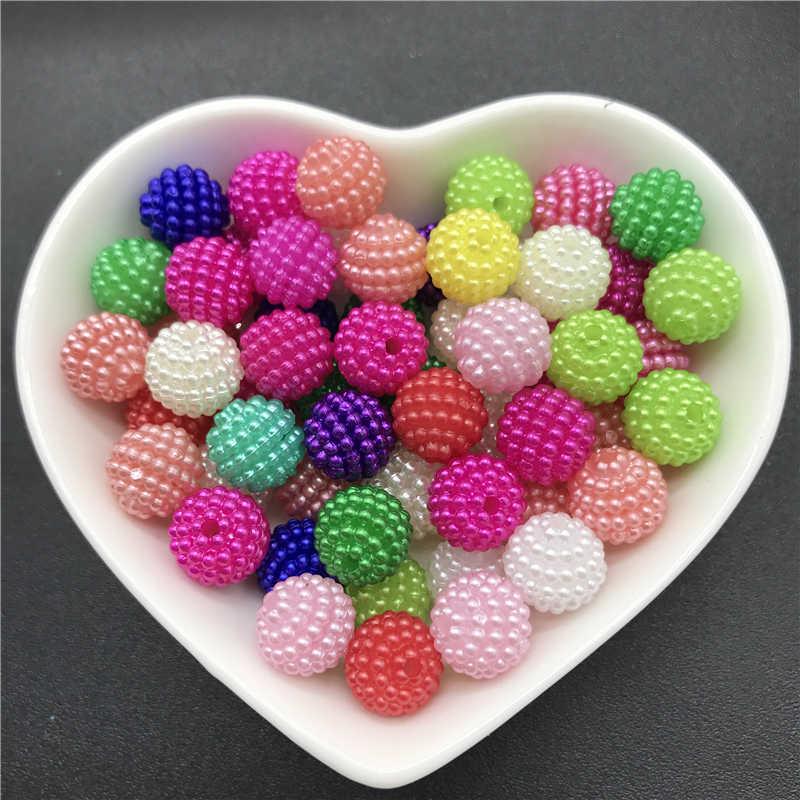 10mm 50 pçs contas de acrílico bayberry contas redondas soltas contas caber europa contas para fazer jóias diy acessórios