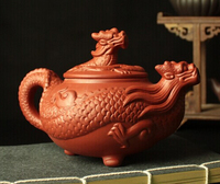 2018 Infusor Kochen Werkzeuge Kapsel Chinesischen Drachen Kung Fu Tee Set  ton Teekanne hochwertigen Topf  handwerk 450 ml Große Größe|cooking tools|tea chinese settool pot -