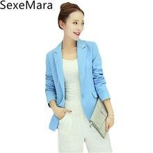 Ladies Black Blazer Feminino Plus Size Formal Jacket Women's Blaser Rosa Female Blue Women Business Suit Office Ladies 2017 C247