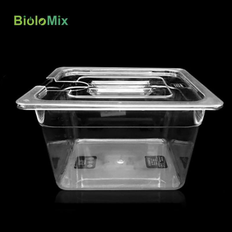 Biolomix Collapsible Hinged Sous Vide Container with Lid for Circulator Sous Vide Culinary Precision Cooker 11 Liter Capacity (4)