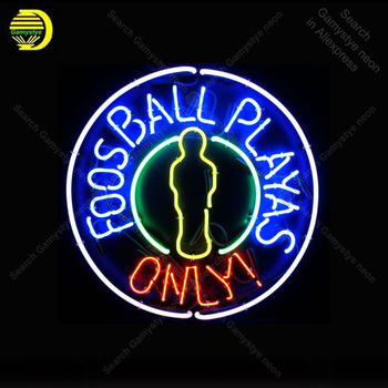 Foosball Playas Only NEON SIGN REAL GLASS Tubes BEER BAR PUB Sign LIGHT SIGN STORE DISPLAY ADVERTISING LIGHTS lamp for sale
