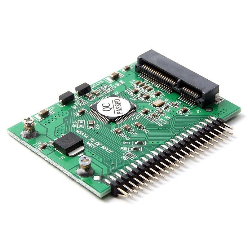 Carte adaptateur SSD mSATA vers disque dur IDE 2.5 pouces, 10 pièces/lot, convertisseur Mini pcie pour disque dur mSATA