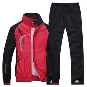 Image 4 - Mens Sportswear New Spring Autumn 2 Piece Sets Sports Suit Jacket+Pant Sweatsuit Male Print Clothing Tracksuit Size L 5XL