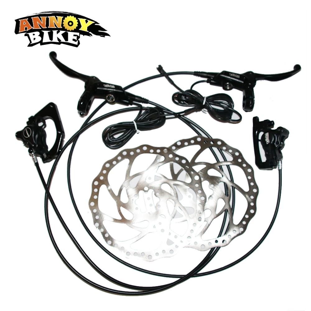 Annoybike New Sale Hydraulic Disc Brake 203MM For Electric Bike E715 Brake Levers Oil Disc Brake Bicycle Accessories