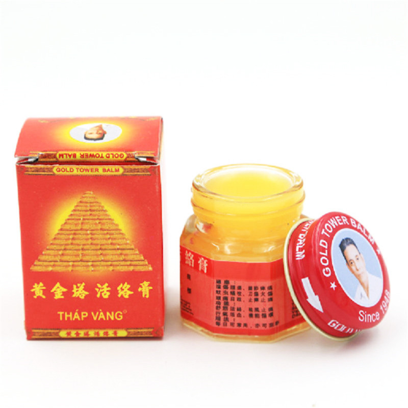 12pcs Vietnam Gold Tower Balm Relieving Itching Muscle Joints Rheumatism Pain Killer Detumescence Ointment Active Pain
