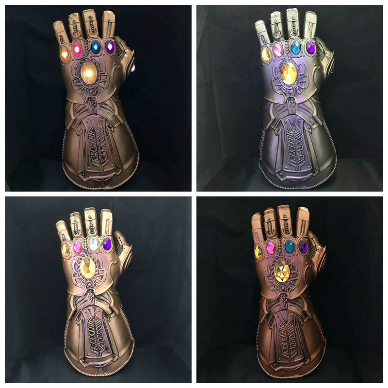 2019 Movie Avengers 4 Cosplay War Thanos Cosplay Glove LED Light Kid Toys JJ