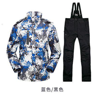 цена Christmas gift Ski Suit Men's Waterproof Thermal Snowboard Snow Male Skiing Jacket And Pants sets Skiwear Skating Clothes HW450